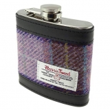 Placatka Harris Tweed 170ml - Pink Lilac Check