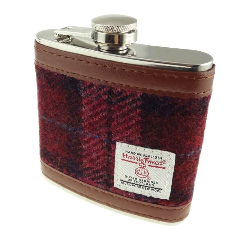 Placatka Harris Tweed 170ml - Raspberry Check