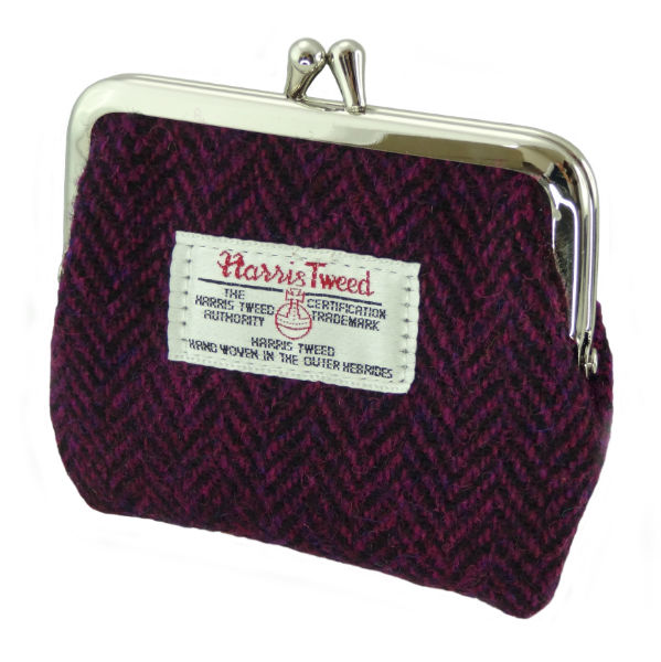 Peněženka Eigg Harris Tweed - Burgundy