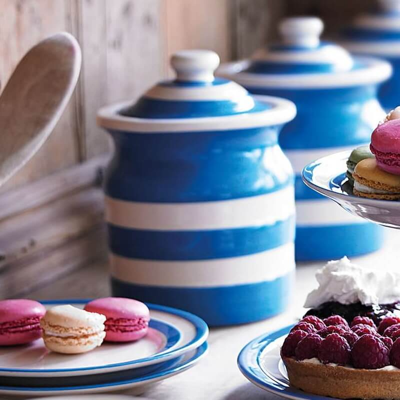 Dóza Blue Stripes 840ml - Cornishware