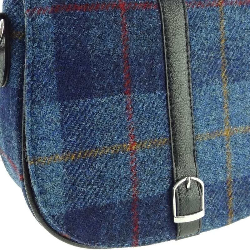 Kabelka Beauly Harris Tweed - Dark Blue Tartan