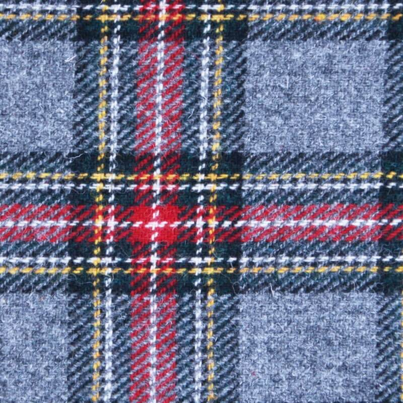 Peněženka Jura Harris Tweed - Grey Red Tartan