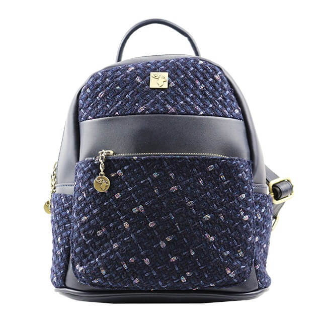 Batoh Glitter Tweed malý - Dark Blue