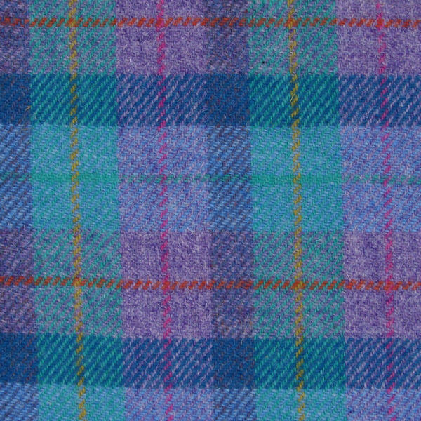 Kabelka Leven Harris Tweed - Green Purple Check