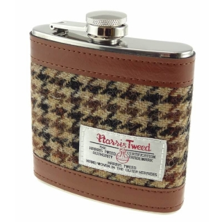 Placatka Harris Tweed 170ml - Brown Dogtooth