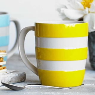Hrnek Yellow Stripes 340ml - Cornishware