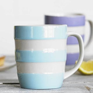 Hrnek Turkish Blue Stripes 340ml - Cornishware
