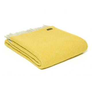 Vlněná deka Diagonal Stripe Yellow 183 x 150 cm Tweedmill