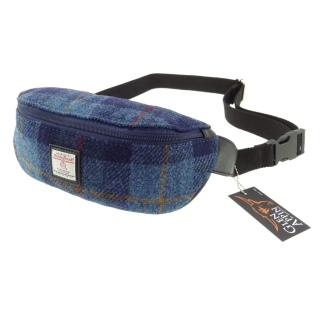 Ledvinka Morar Harris Tweed - Dark Blue Tartan