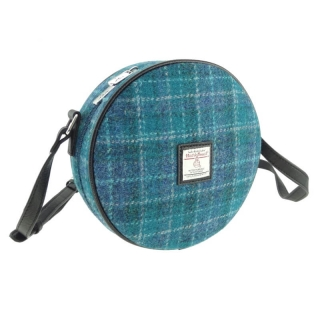 Kabelka Bannock Harris Tweed - Sea Blue Check