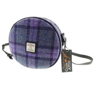 Kabelka Bannock Harris Tweed - Bold Purple Check