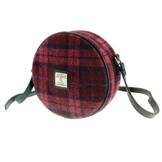 Kabelka Bannock Harris Tweed - Raspberry Check