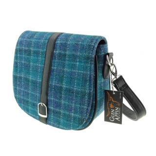Kabelka Beauly Harris Tweed - Sea Blue Check