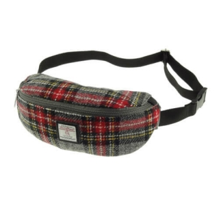Ledvinka Morar Harris Tweed - Grey Red Tartan