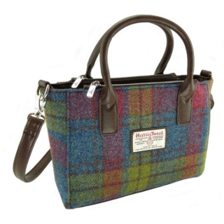Kabelka Brora Harris Tweed - Multi Colour Tartan