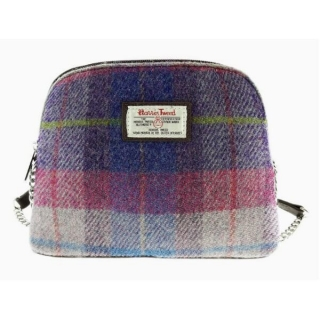 Kabelka Leven Harris Tweed - Purple Pink Tartan