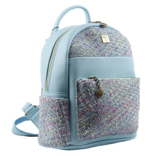 Batoh Glitter Tweed malý - Light Blue