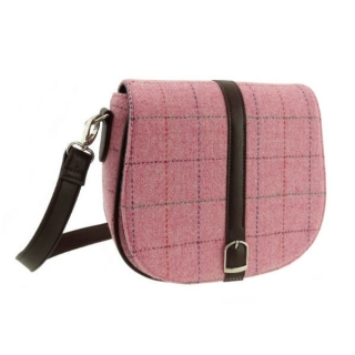 Kabelka Beauly Harris Tweed - Pink Overcheck