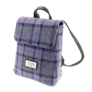 Batoh Tummel Harris Tweed - Bold Purple Check