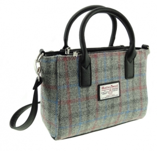 Kabelka Brora Harris Tweed - Light Grey Check