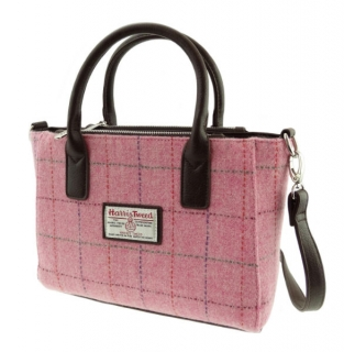 Kabelka Brora Harris Tweed - Pink Overcheck