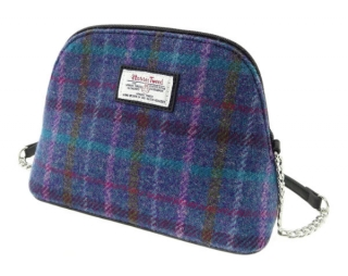 Kabelka Leven Harris Tweed - Purple Multi Check