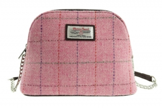 Kabelka Leven Harris Tweed - Pink Overcheck