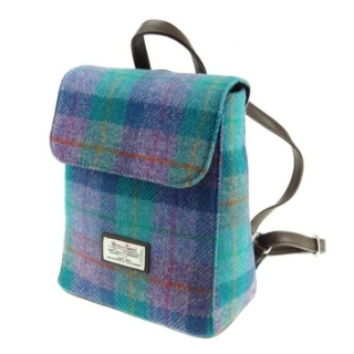 Batoh Tummel Harris Tweed - Green Purple Check