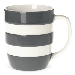 Hrnek Grey Stripes 340ml - Cornishware